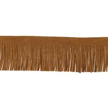 Brown Suede Fringe Trim
